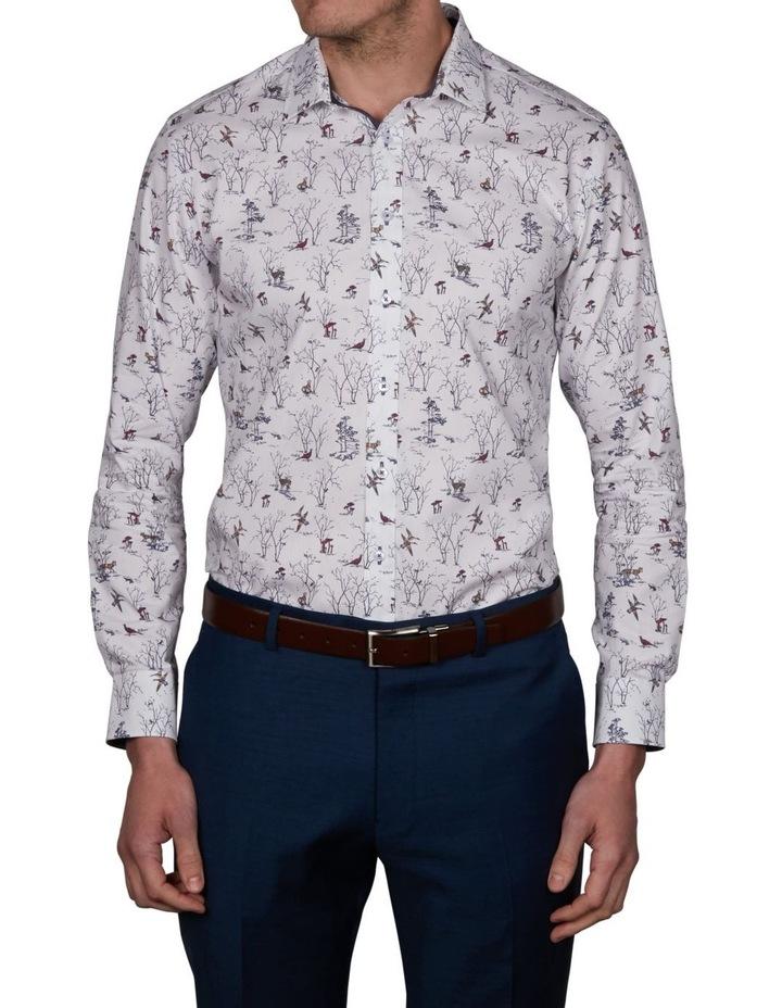 Oasis Slim Print Business Shirt image 1