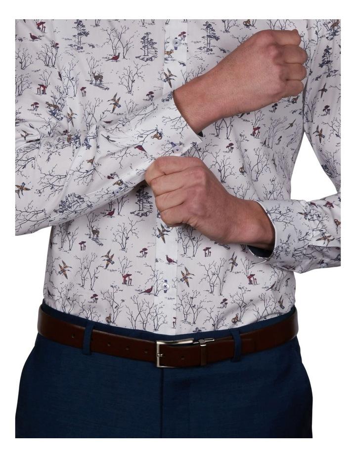 Oasis Slim Print Business Shirt image 4
