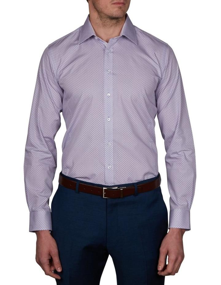 Milford Extra Slim Print Business Shirt image 1