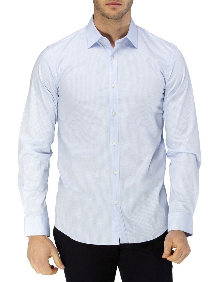 Career Micro Square Print Business Shirt image 1
