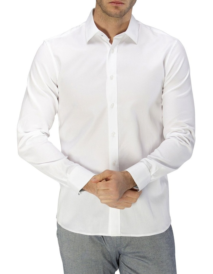 Luxe Honeycomb Weave Business Shirt image 1