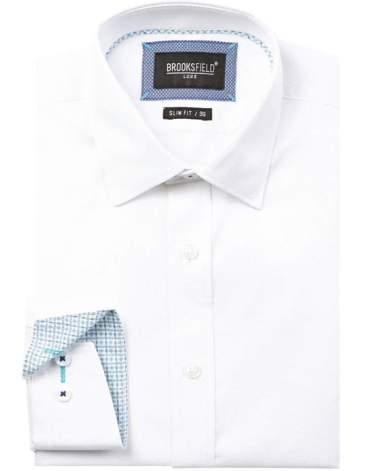 Luxe Honeycomb Weave Business Shirt image 4