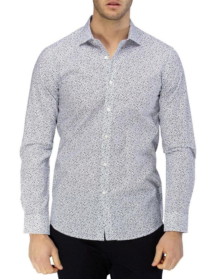 Luxe Vine Leaf Print Slub Business Shirt image 1