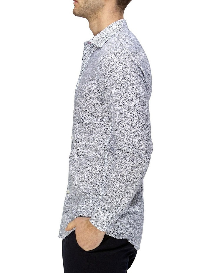 Luxe Vine Leaf Print Slub Business Shirt image 2