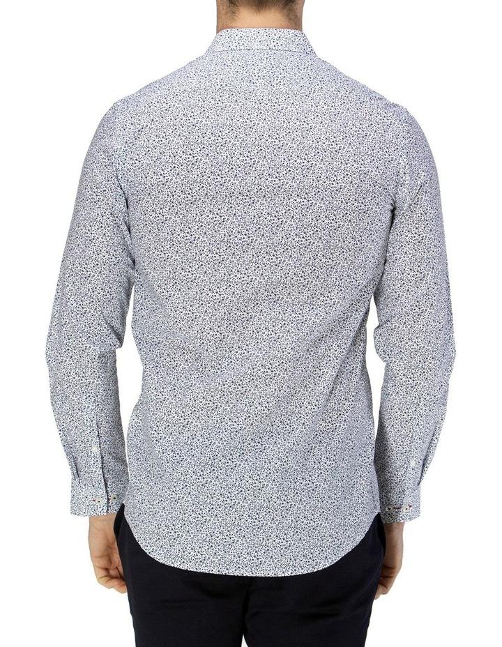 Luxe Vine Leaf Print Slub Business Shirt image 3