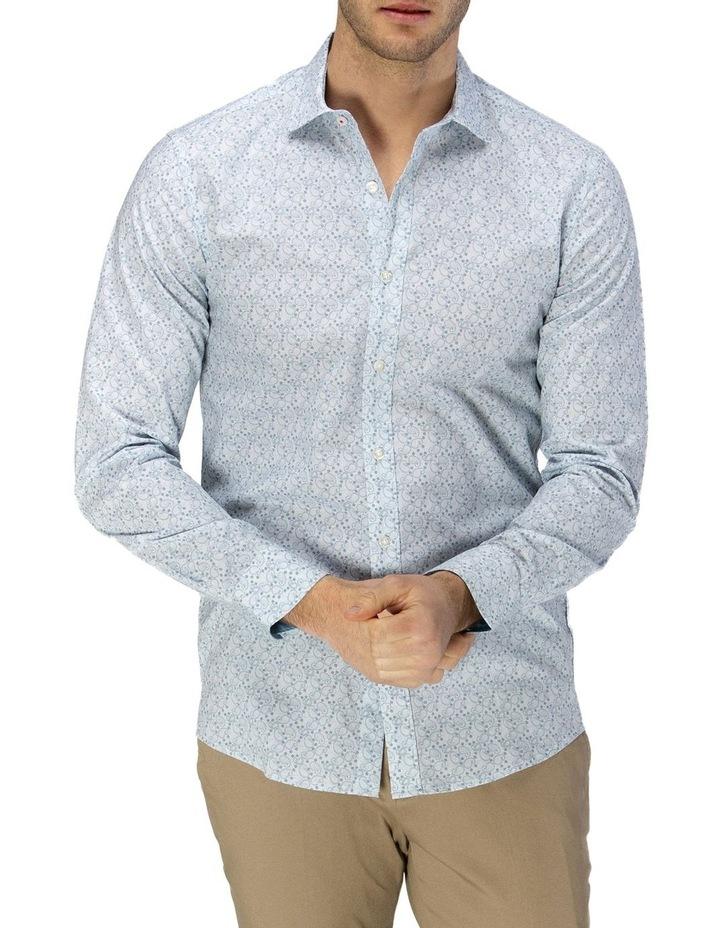 Luxe Paisley Print Slub Business Shirt image 1