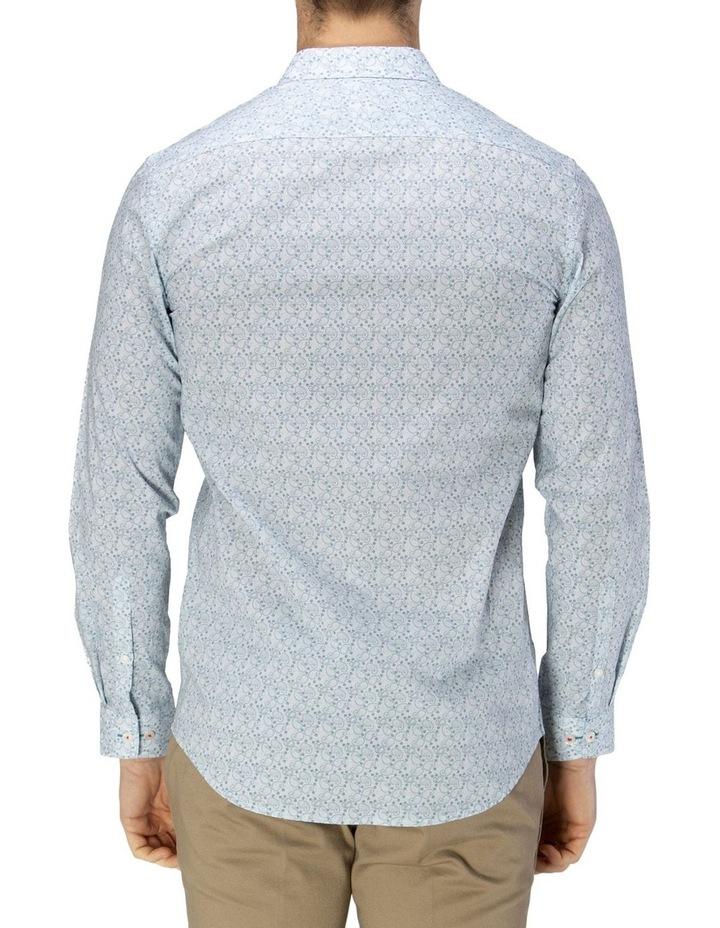 Luxe Paisley Print Slub Business Shirt image 3