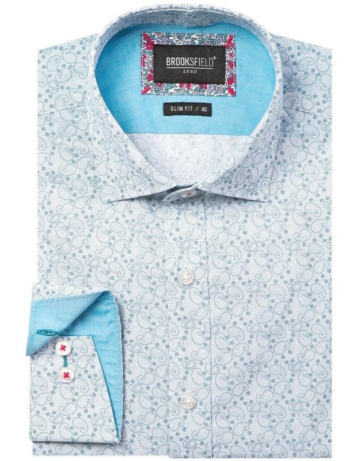 Luxe Paisley Print Slub Business Shirt image 4