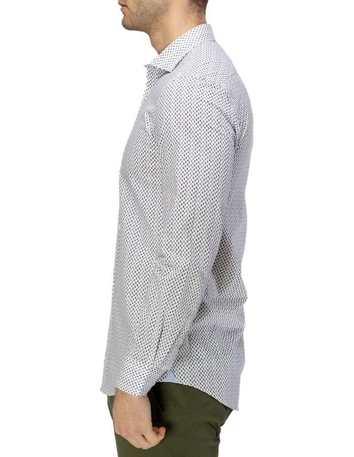 Luxe Leaf Print Slub Business Shirt image 2
