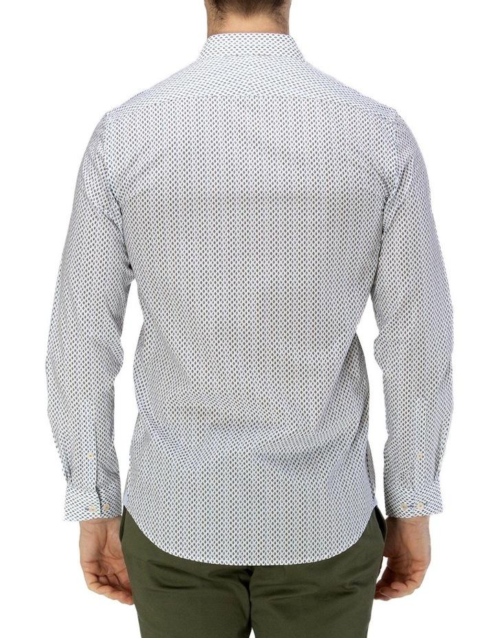 Luxe Leaf Print Slub Business Shirt image 3