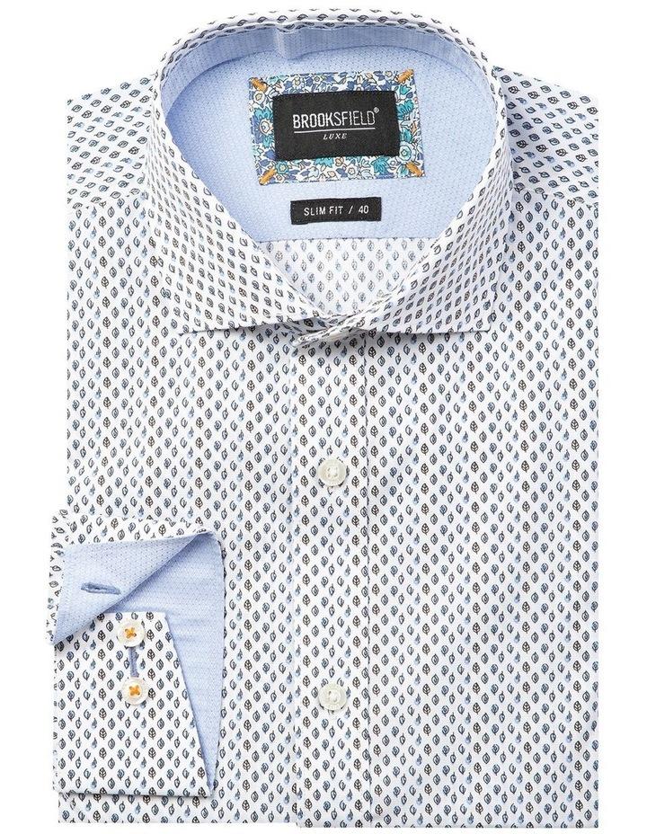 Luxe Leaf Print Slub Business Shirt image 4