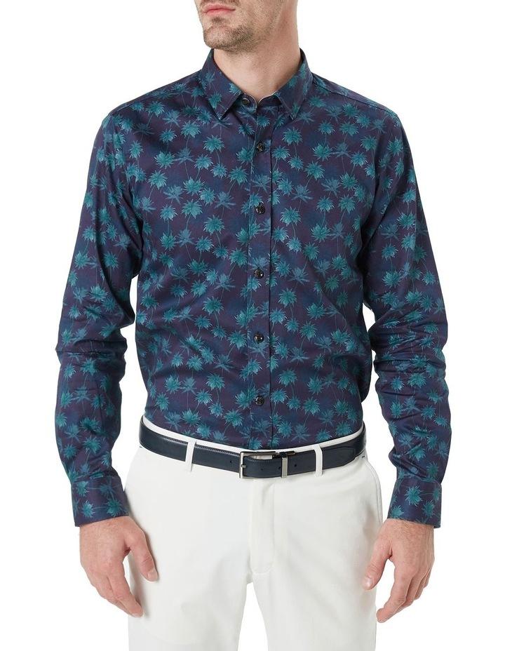 Kosh Navy Palm Print Shirt image 1