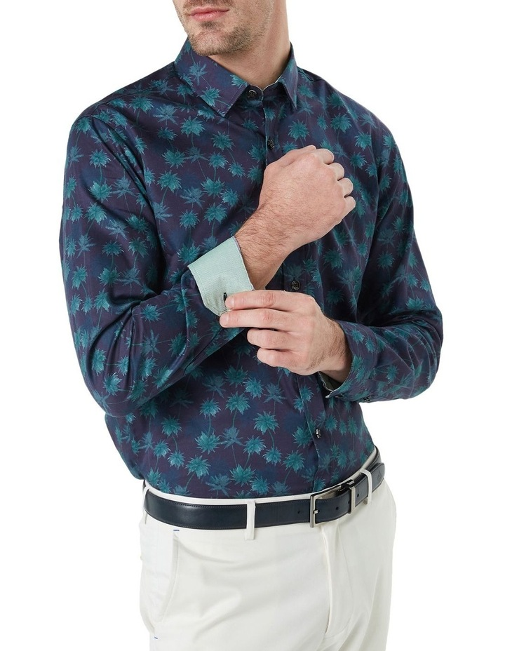 Kosh Navy Palm Print Shirt image 2