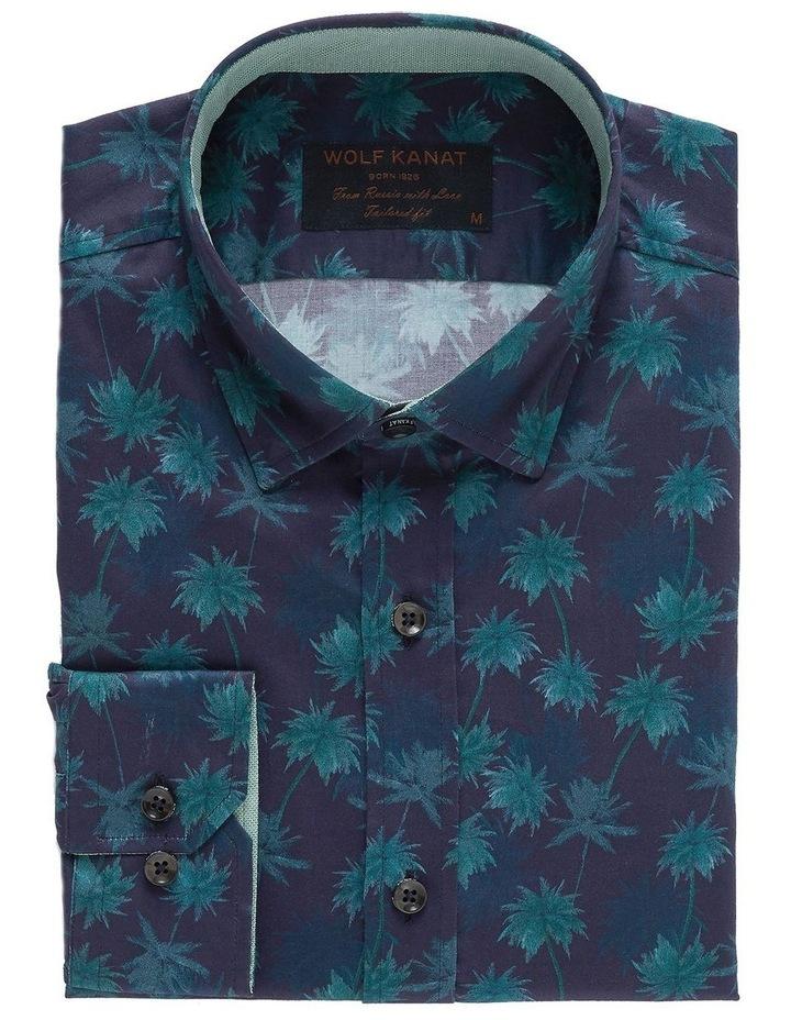 Kosh Navy Palm Print Shirt image 3