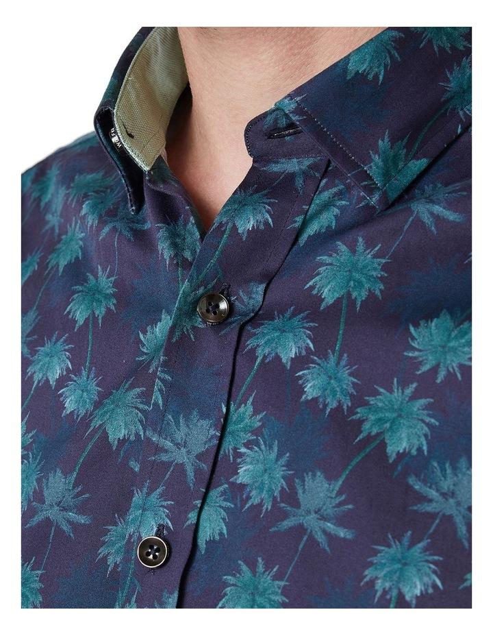 Kosh Navy Palm Print Shirt image 4