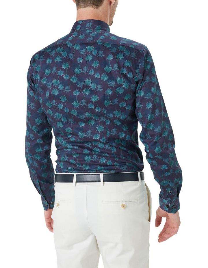 Kosh Navy Palm Print Shirt image 5