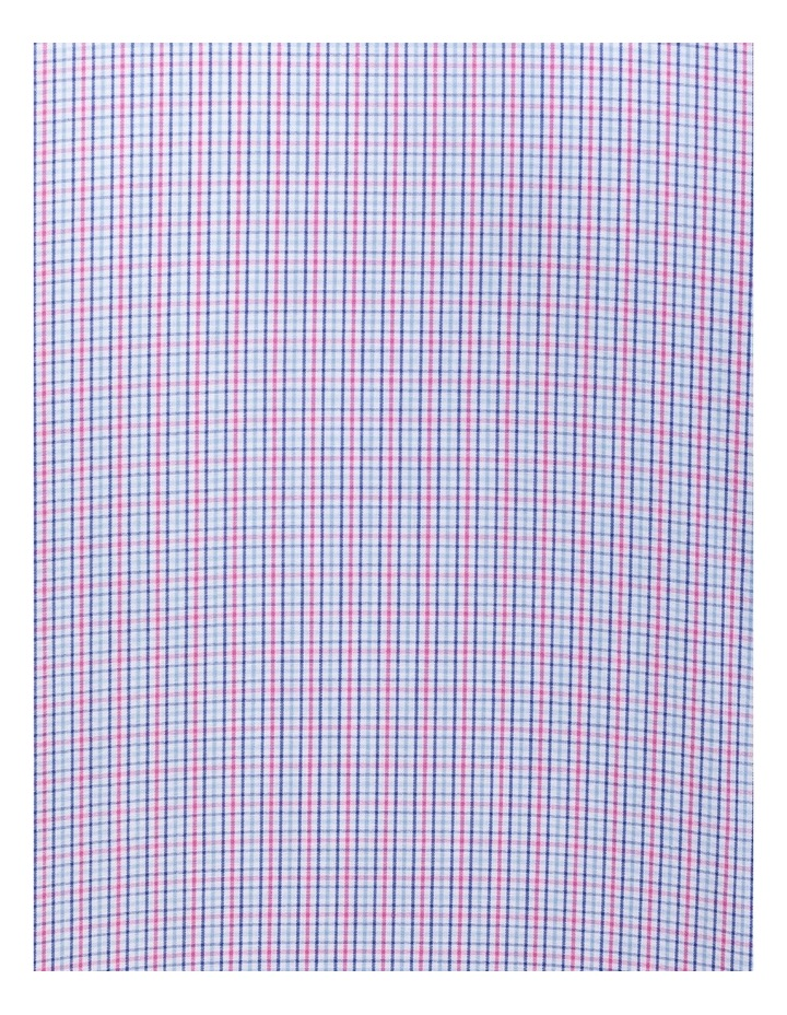 White Ground Pink & Blue Check Business Shirt image 4