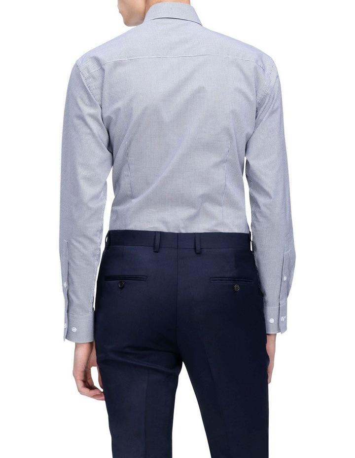 White Ground Navy Dobby Check Business Shirt image 3
