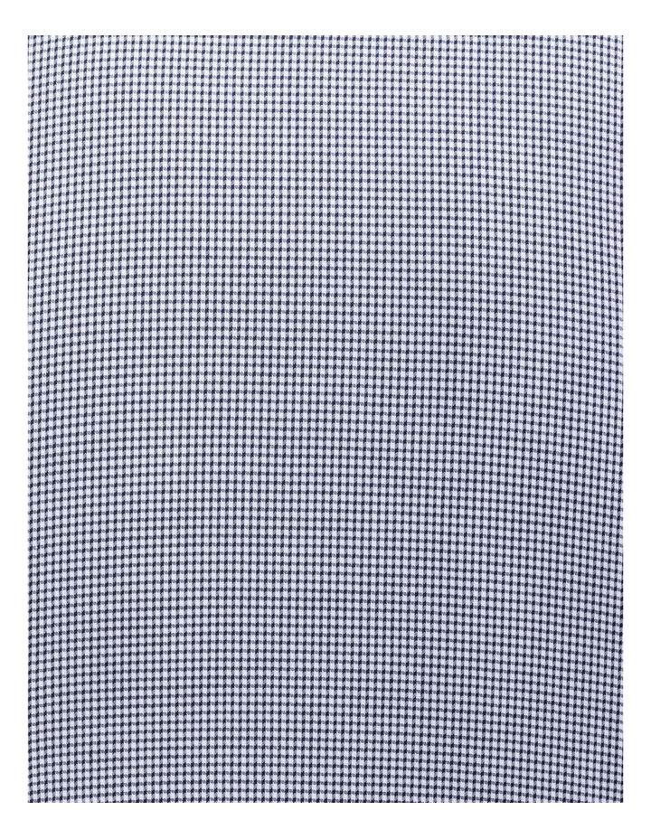 White Ground Navy Dobby Check Business Shirt image 4