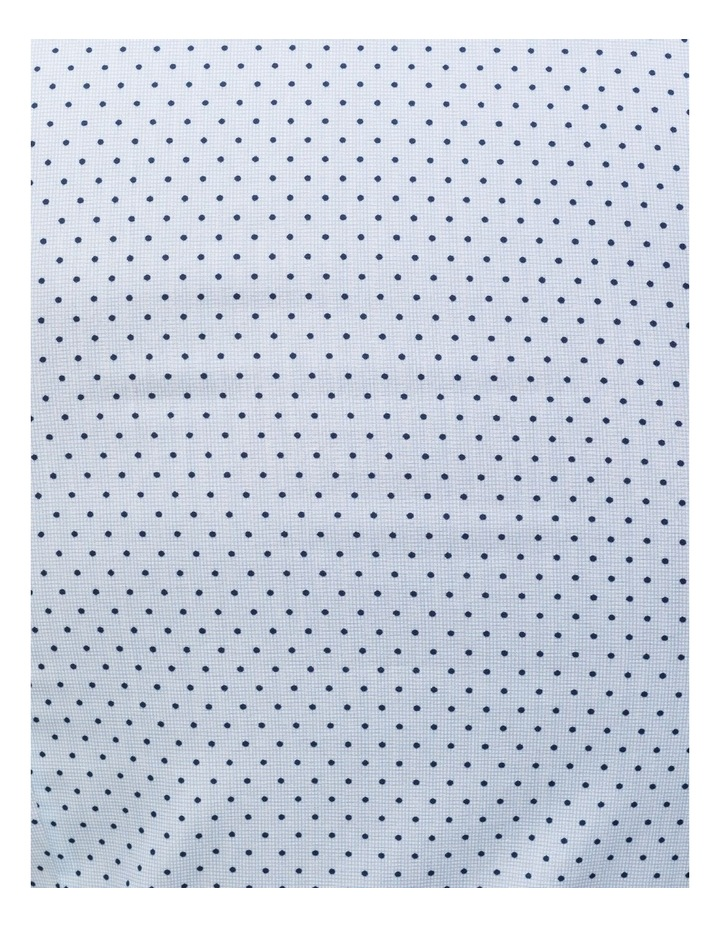 Blue With Navy Spot Print Business Shirt image 4