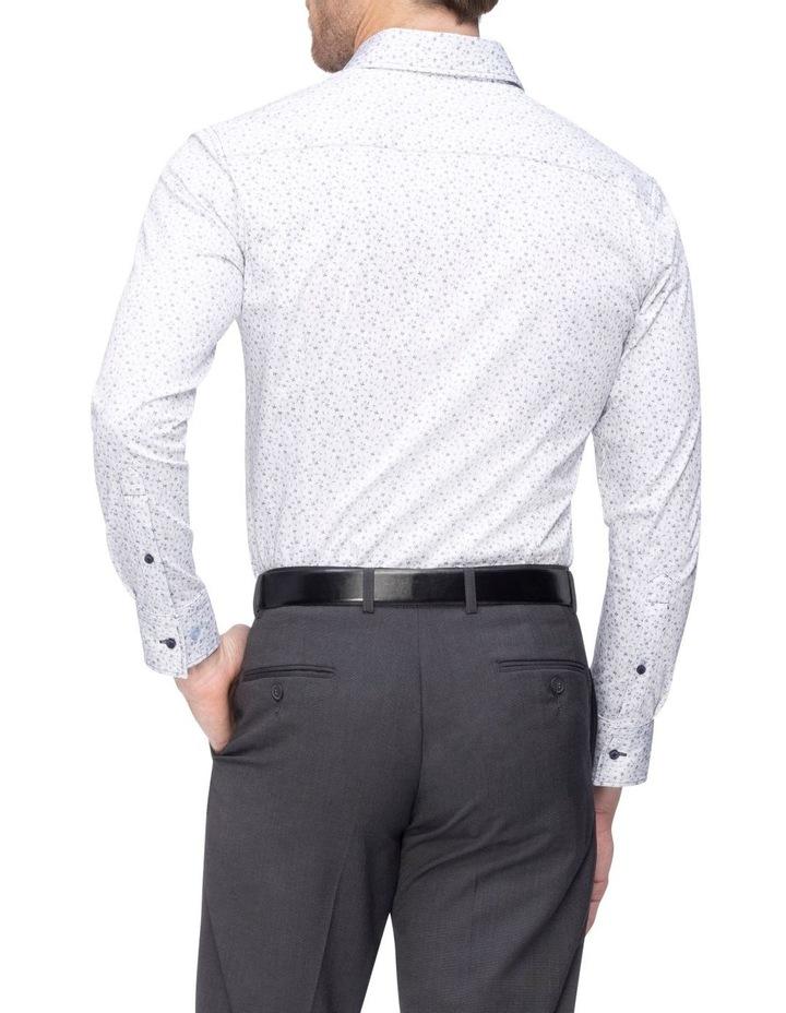 White Ground Black Print Business Shirt image 2