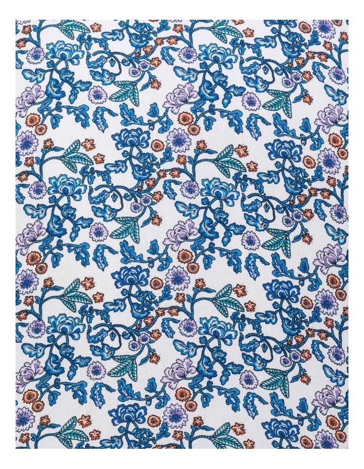 White Ground Blue & Aqua Print Business Shirt image 4