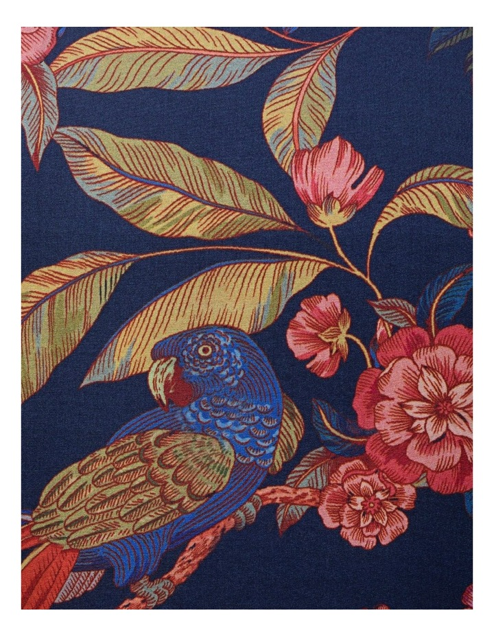 Indigo With Large Red Floral Digital Print Business Shirt image 4