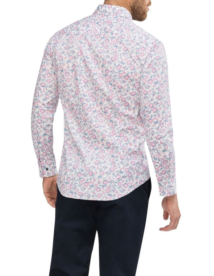 White Ground Pink & Blue Floral Business Shirt image 3