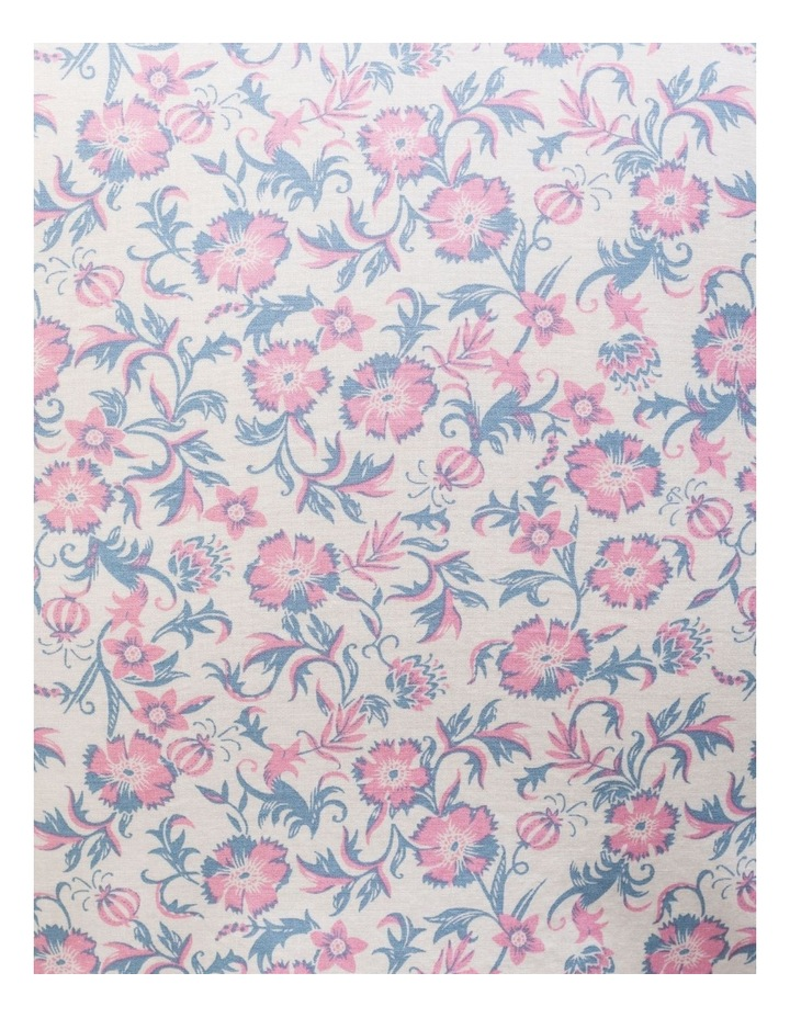 White Ground Pink & Blue Floral Business Shirt image 4