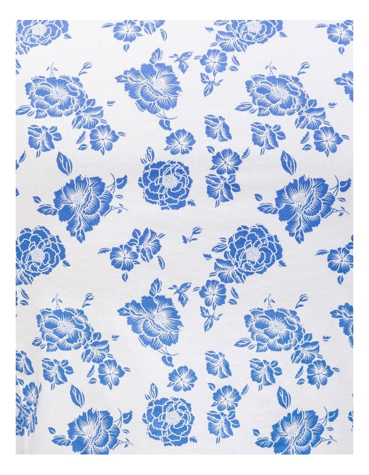 White Ground Blue Floral Business Shirt image 4