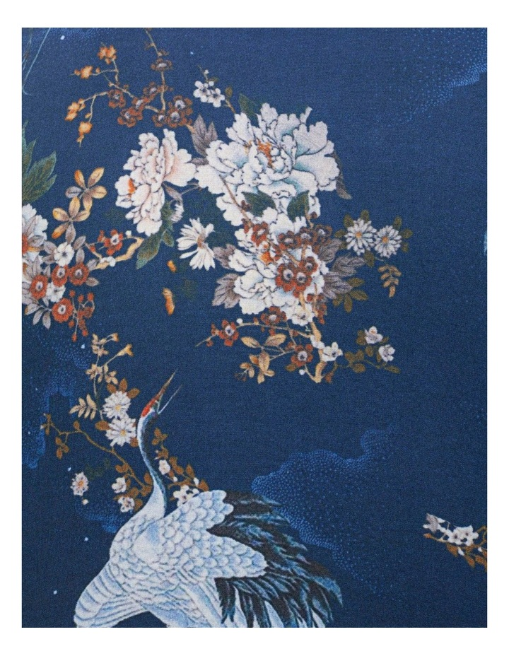 Blue With White Bird Digital Floral Print Business Shirt image 4