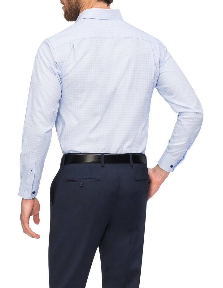 Check Business Shirt Blue image 3
