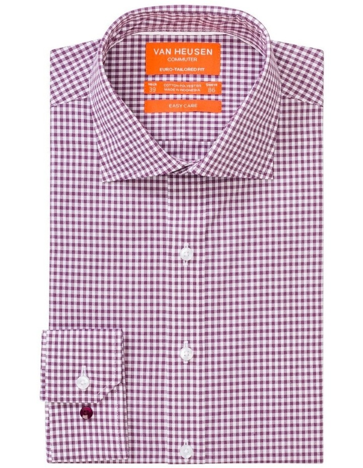 Check Business Shirt Wine image 1