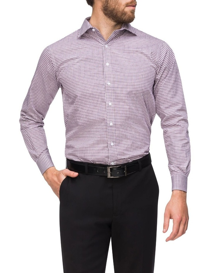 Check Business Shirt Wine image 2