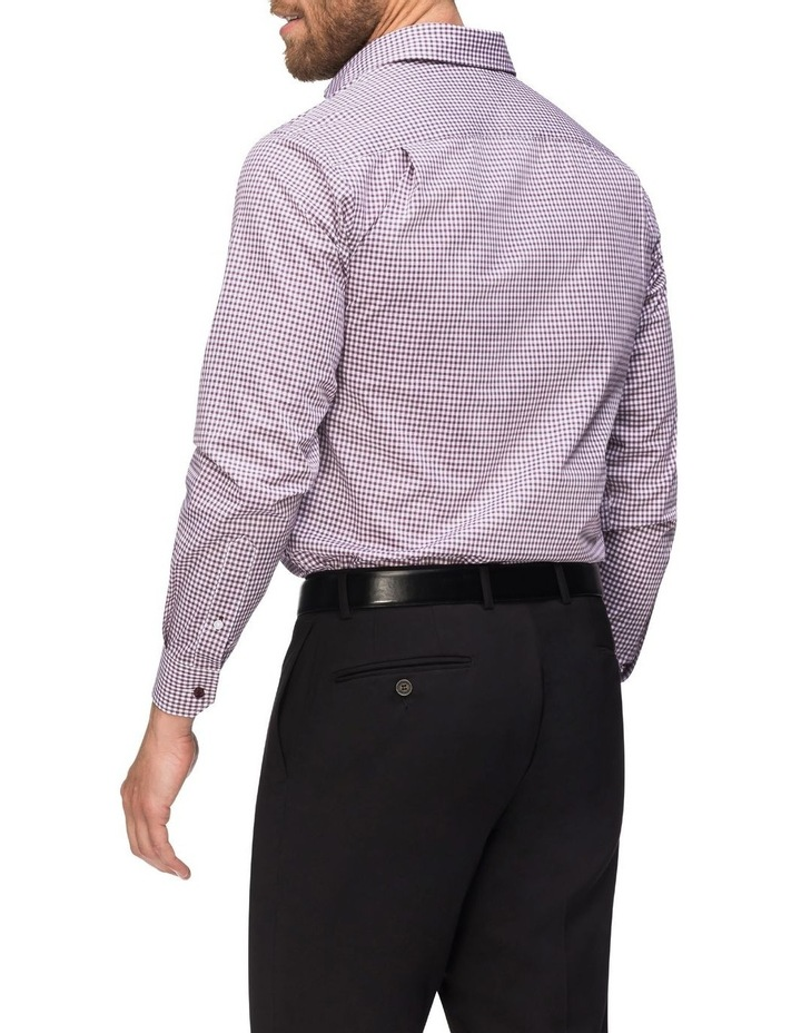 Check Business Shirt Wine image 3