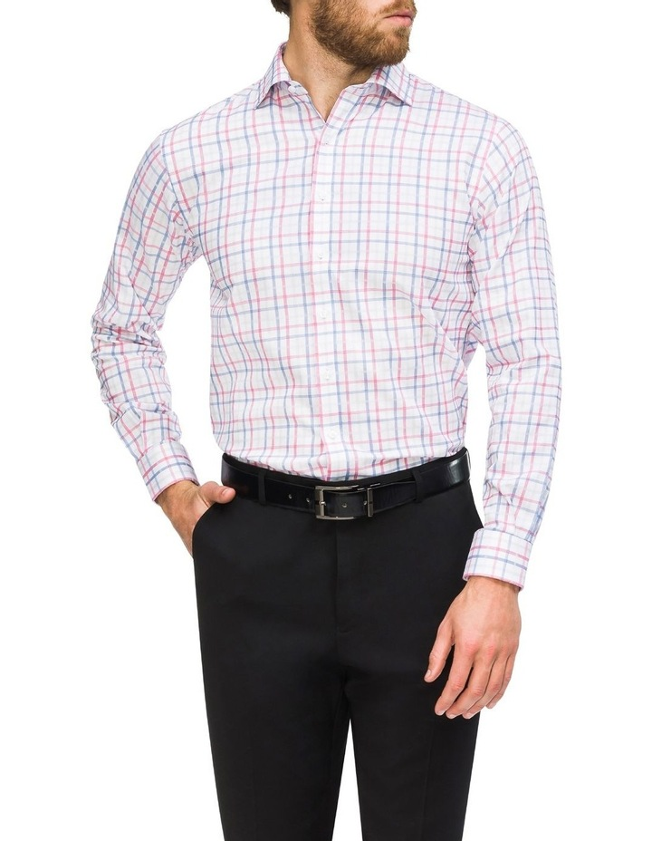 Commuter Check Business Shirt Red/Blue image 2