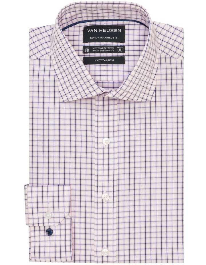 Check Business Shirt Pink/Navy image 1