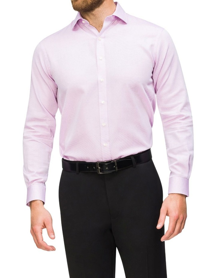 Self Dobby Business Shirt Lilac image 2