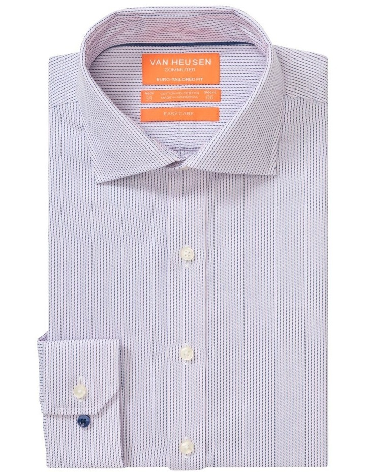 Commuter Dobby Stripe Business Shirt Pink/Navy image 1