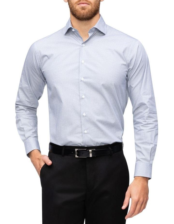 Print Business Shirt Black image 2