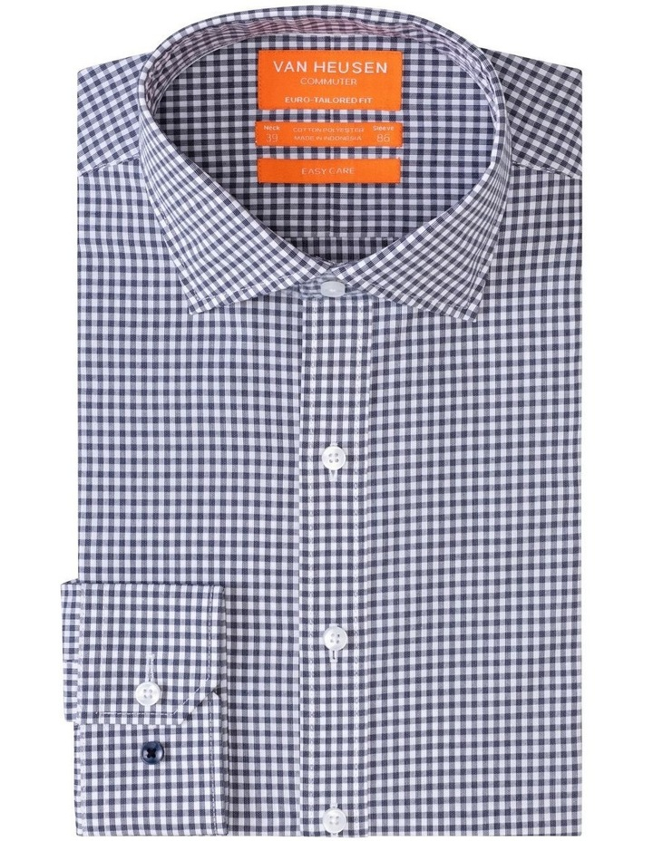 Commuter Check Business Shirt Navy image 1