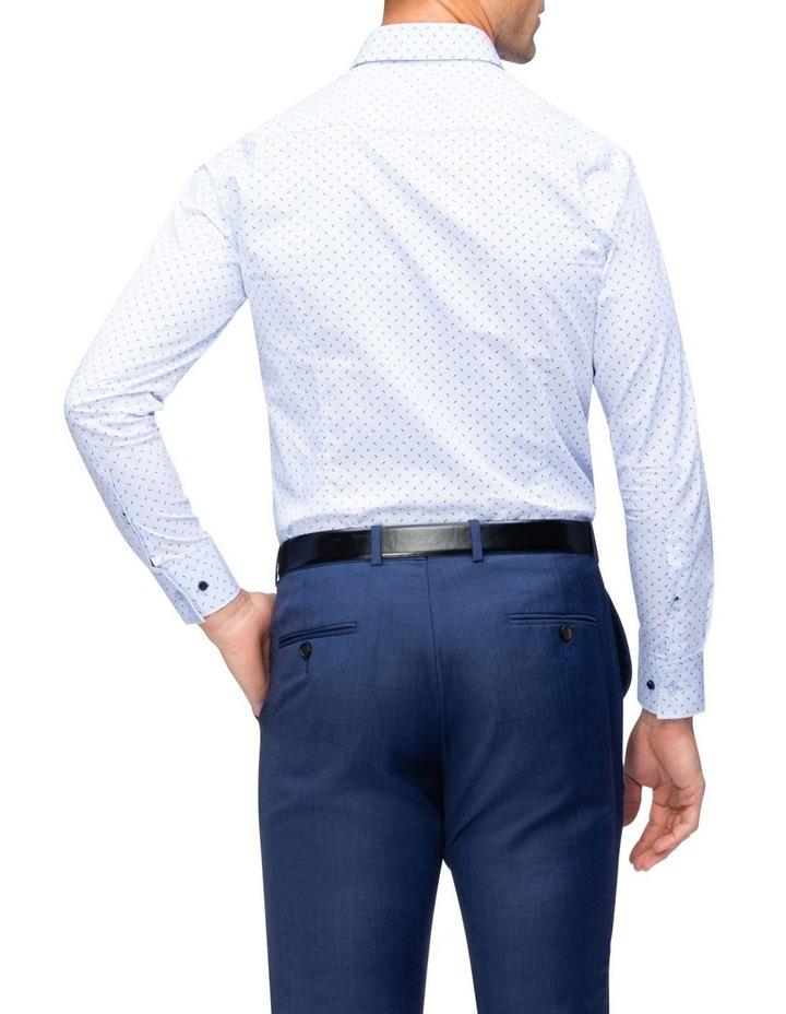 Blue, White & Navy Geo Print Business Shirt image 3