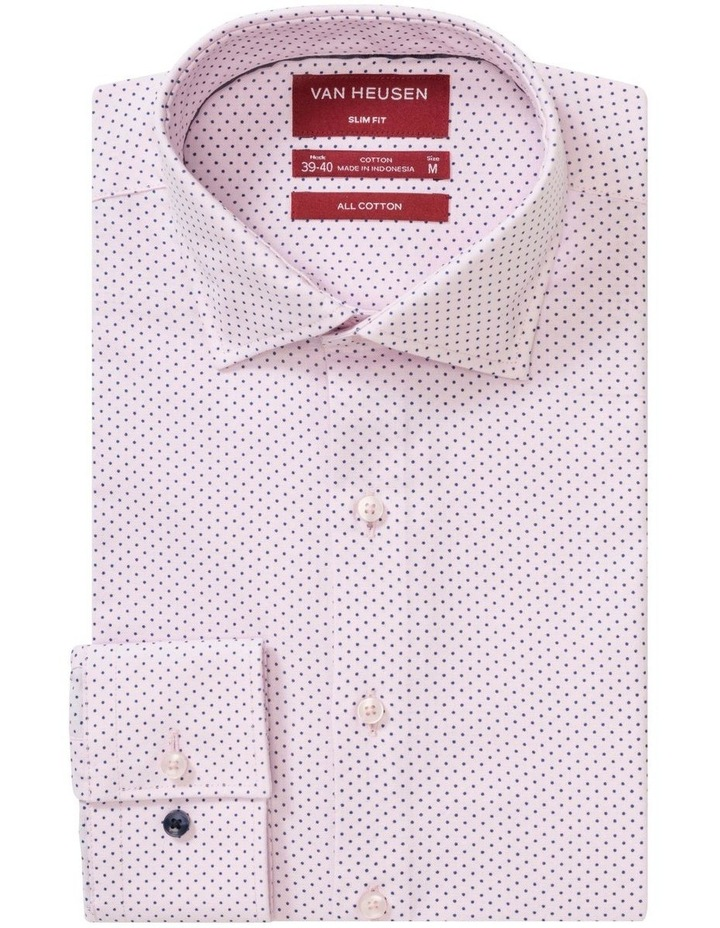 Pink with Navy Fine Dot Business Shirt image 1