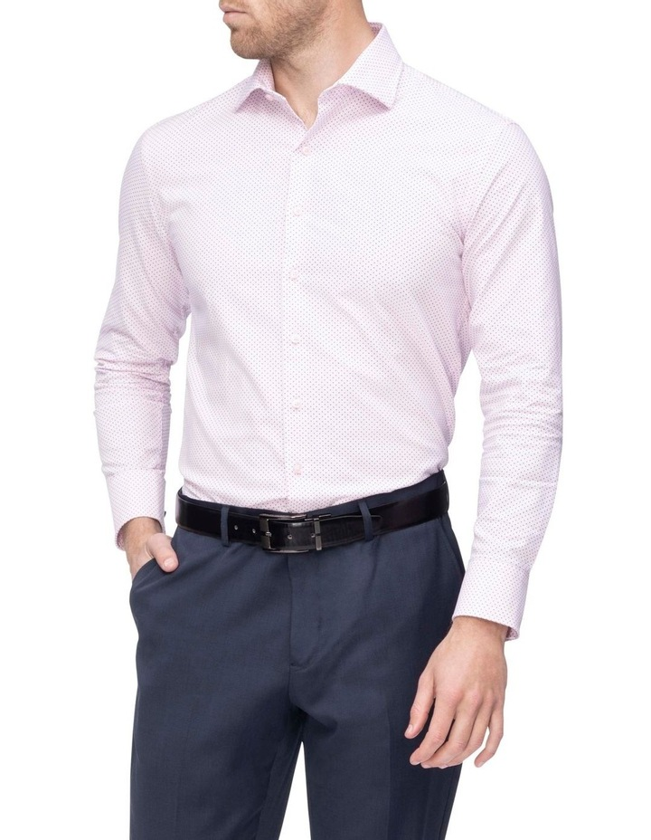 Pink with Navy Fine Dot Business Shirt image 2