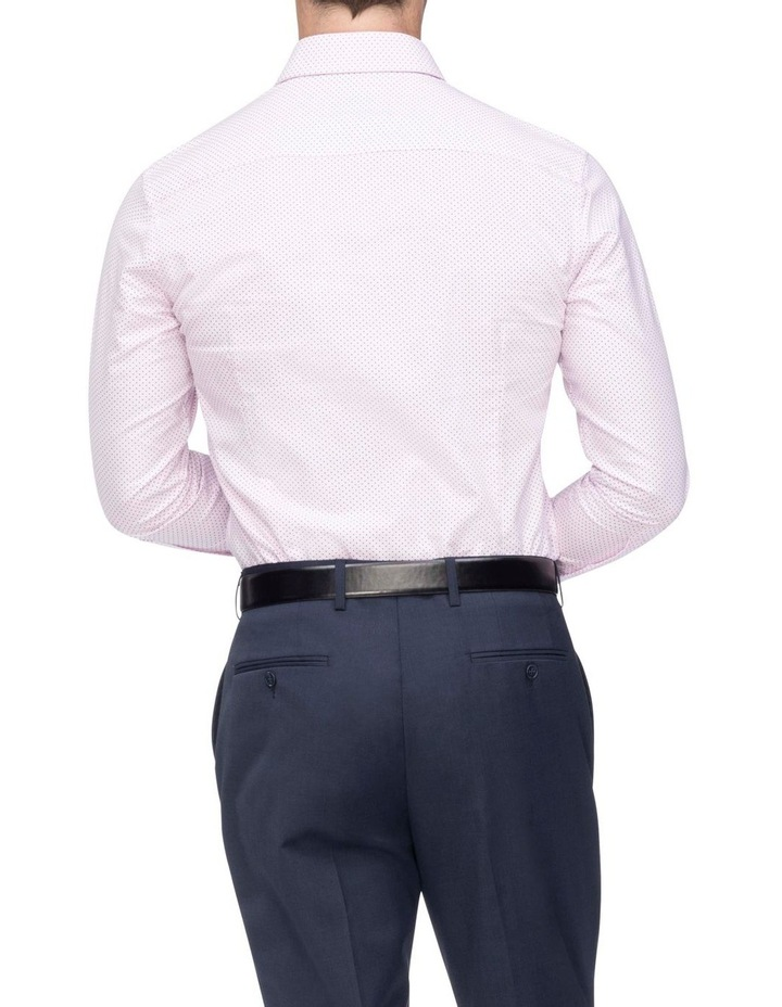 Pink with Navy Fine Dot Business Shirt image 3