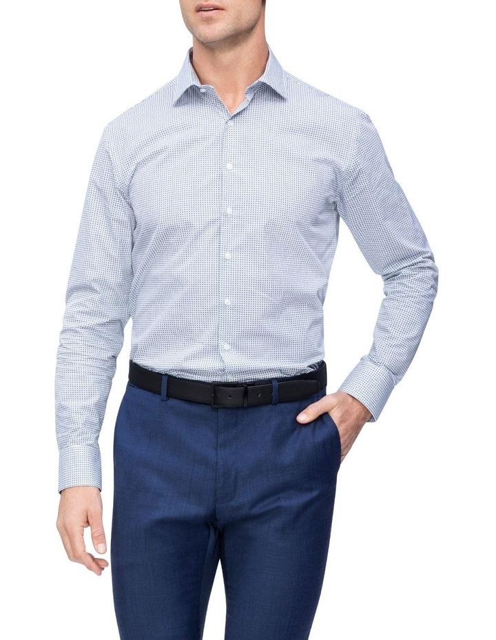 White Ground Check Print Business Shirt image 2