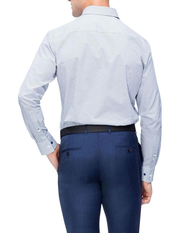 White Ground Check Print Business Shirt image 3