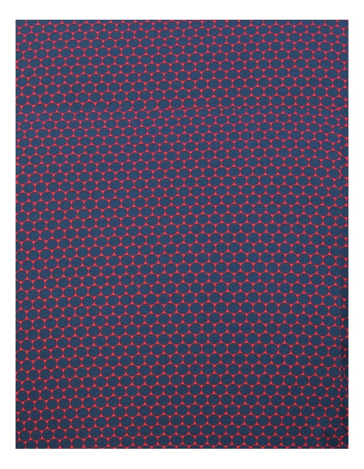 White Ground with Navy Circles Print Business Shirt image 4