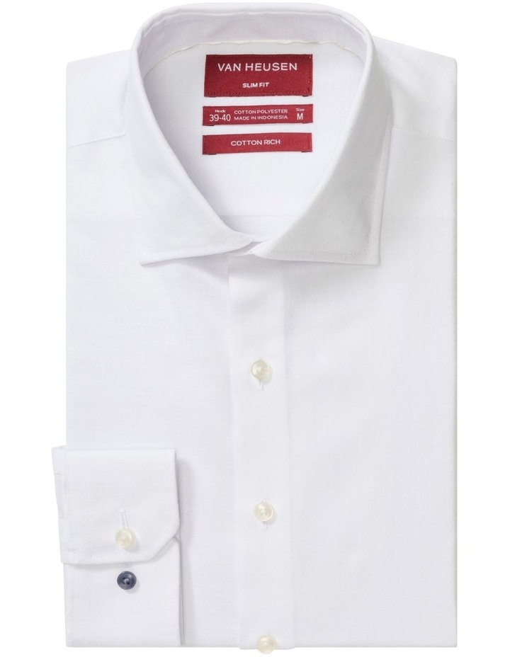 Dobby White Self Dot Business Shirt image 1