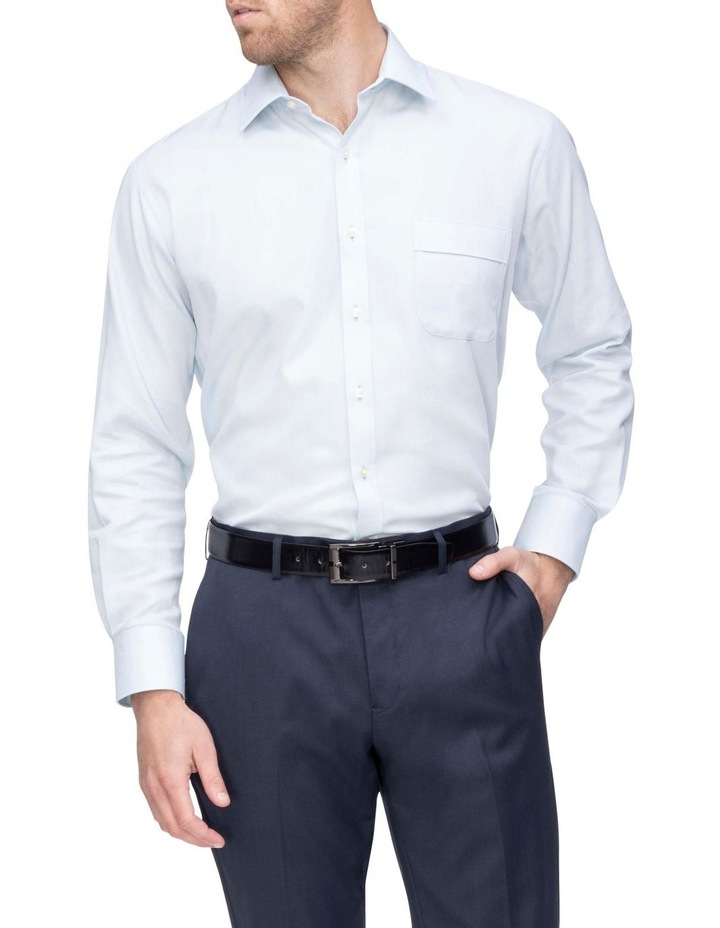 Self Herringbone Business Shirt image 1